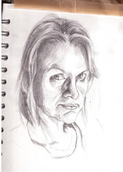 Sketch Of My Mum by AceDoc