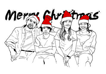 Family Christmas Card 2013 by AceDoc