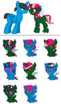 Rare Raspberry and Blue Moon Breedable babies by Strawberry-T-Pony