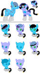 Star Bright and unnamed babies(Closed) by Strawberry-T-Pony