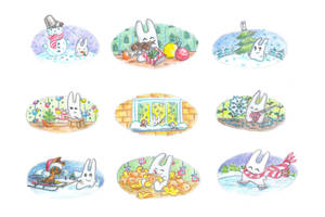 December bunnies part 1 by jkBunny