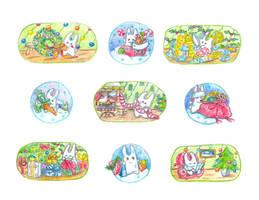 December bunnies part 3 by jkBunny