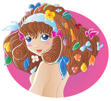 Girl with some stuff in hair v by jkBunny