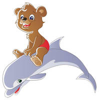 Bear and dolphin by jkBunny