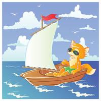 Under sail by jkBunny