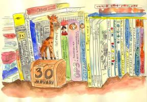 Bookshelf by jkBunny
