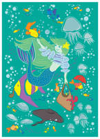 Little mermaid _vector by jkBunny