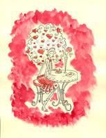 Girl in love by jkBunny