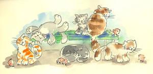 Cats by jkBunny