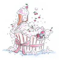 Cherry bath by jkBunny