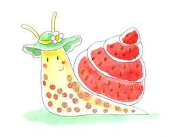 Strawberry snail by jkBunny