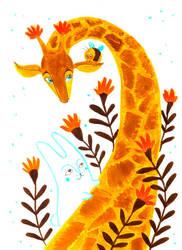 Giraffe by jkBunny