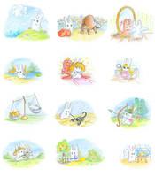Zodiac bunnies by jkBunny