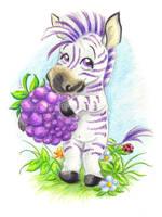 Blackberry zebra by jkBunny