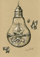Inktober 16: Hidden Worlds by LucieOn