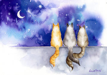 We Three Cats by LucieOn