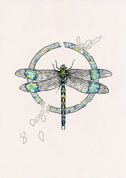 Mosaic Dragonfly by LucieOn