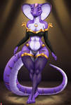Anthro Faarah by TriasTheDinoArtist