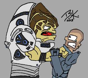 Grunt vs Shepard by Tangotacular