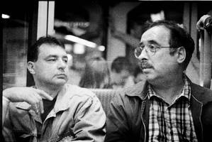 two guys on the subway by netflash33