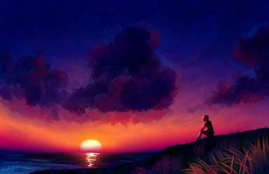 Staring at the sky by Kyr-kun-chan