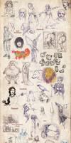 Miscellaneous Doodle Dump 2009 by suthnmeh