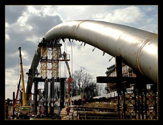 Building New Bidge - Cracow by skarzynscy