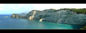 Cliffs Of Corfu - Panorama by skarzynscy