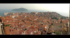 Over The Roofs Of Dubrovnik Panorama - Croatia by skarzynscy