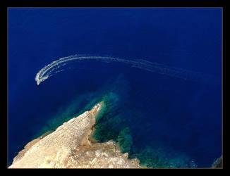 Looking Down ... Cliffs Of Mallorca by skarzynscy