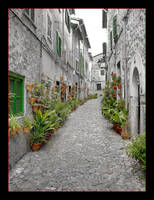 Remastering - Street In Valldemossa by skarzynscy