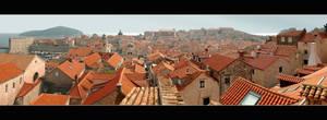 Roofs Of Dubrovnik - Panorama by skarzynscy