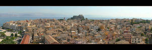 Heart Of Corfu City - Panorama by skarzynscy