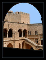 Courtyard Of The Grand Masters Palace - Rodos by skarzynscy