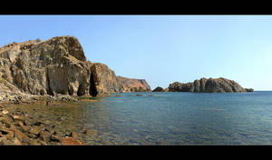 Lesbos Coast Panorama by skarzynscy