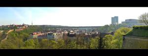 View From Vysehrad, Praha, Panorama by skarzynscy