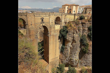Ronda Bridge - Front Panorama by skarzynscy
