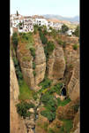 160 m. Depth - Tajo de Ronda Panorama by skarzynscy