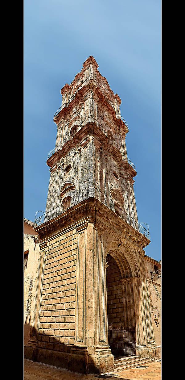 Tower... Somewhere In Malaga (Vertical Panorama) by skarzynscy