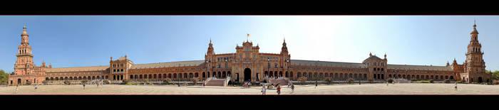 Plaza De Espana - Panorama by skarzynscy
