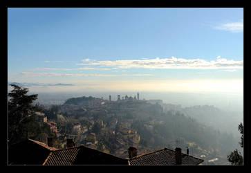 Bergamo In The Winter Morning by skarzynscy