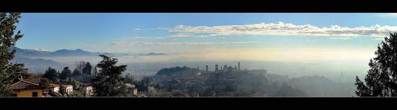 Bergamo In The Winter Morning - Panorama by skarzynscy