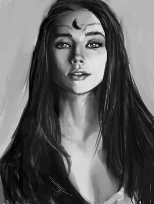 Night princess (Value Study 01) by JonathanL96