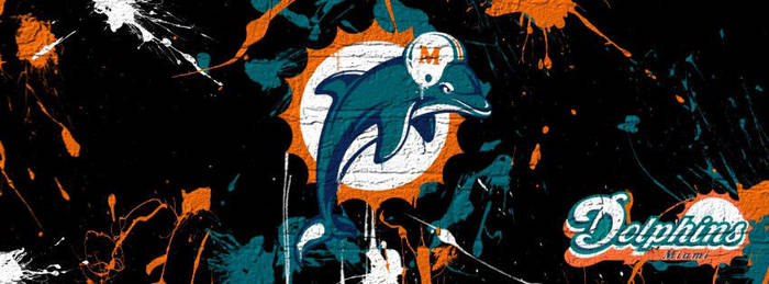 Miami Dolphins Paint by ja906