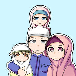Happy Muslim Family by yuritho