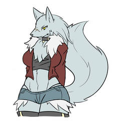 Wolf Girl Sketch by RakkuGuy