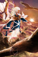 Manwe, King of Arda by skinnyuann