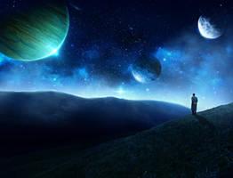 peaceful night by EdhoART2