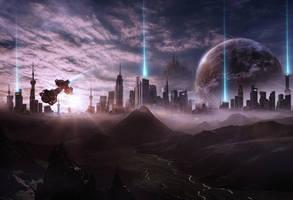 Cityscape by EdhoART2