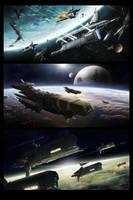 Space scenes by TheUncannyKen